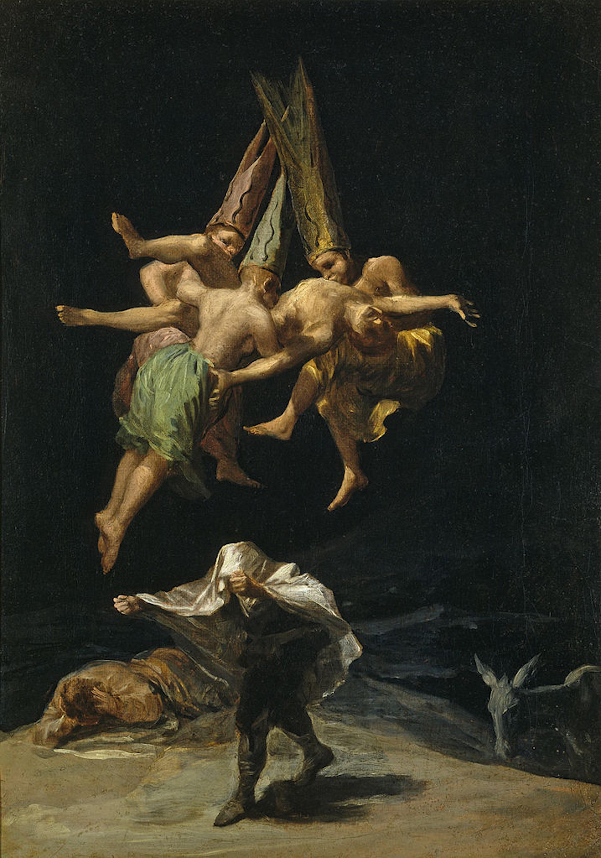 Vuelo de brujasde Francisco de Goya.Wikimedia Commons