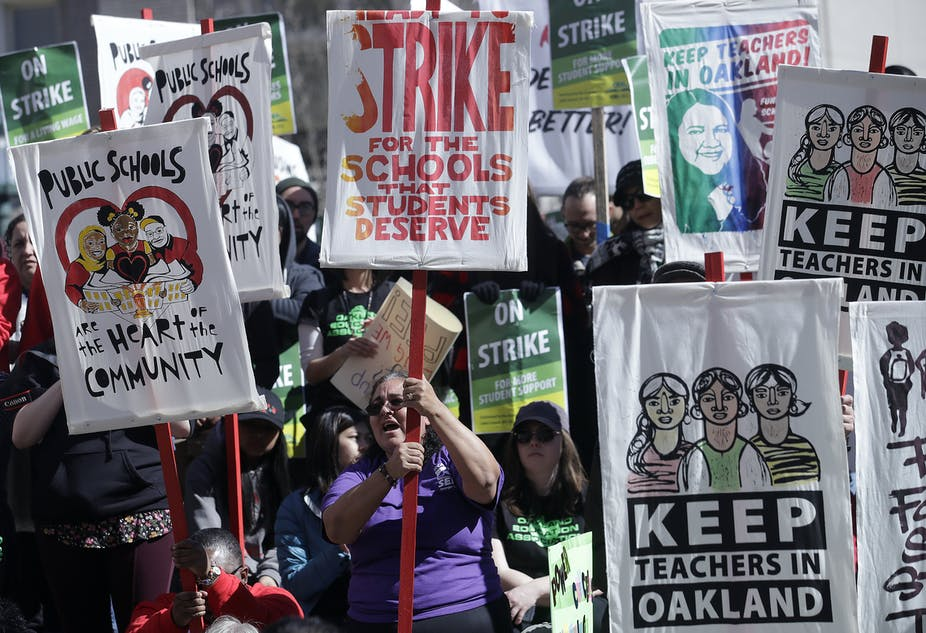 Teacher unions say they're fighting for students and schools