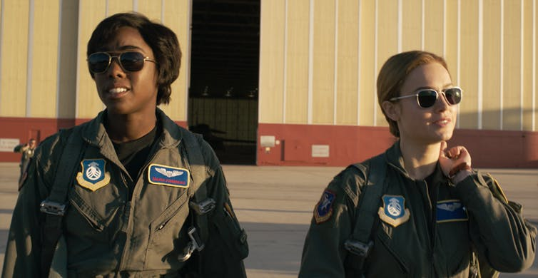 Remember Blockbuster, Nirvana and pagers? The new Captain Marvel lives in the 1990s