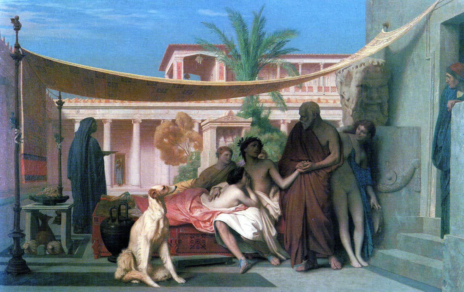 Socrates seeking Alcibiades in the house of Aspasia, Jean-Léon Gérôme, 1861. Credit: Wikimedia Commons