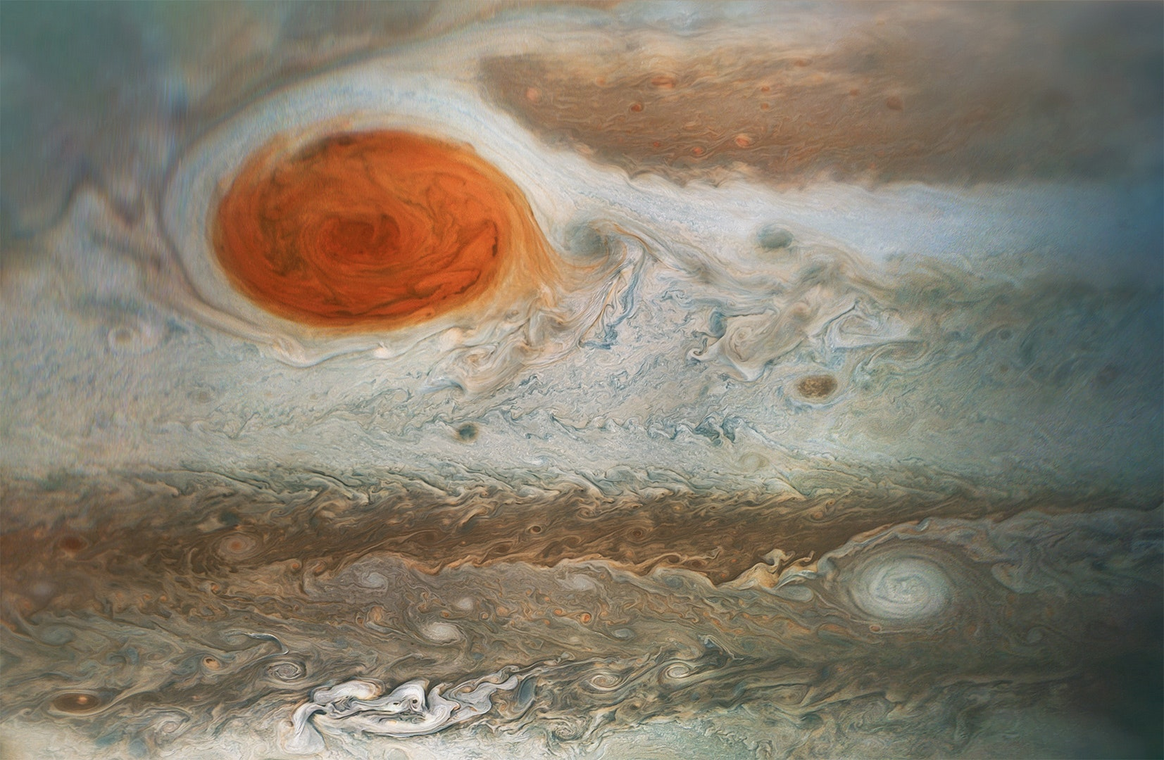 Jupiter's Great Red Spot: A 300-year-old cyclone persists but is shrinking