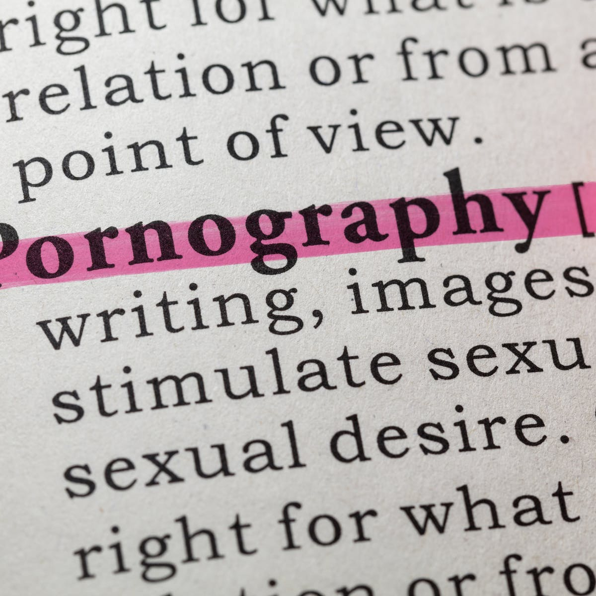 Pornography definition