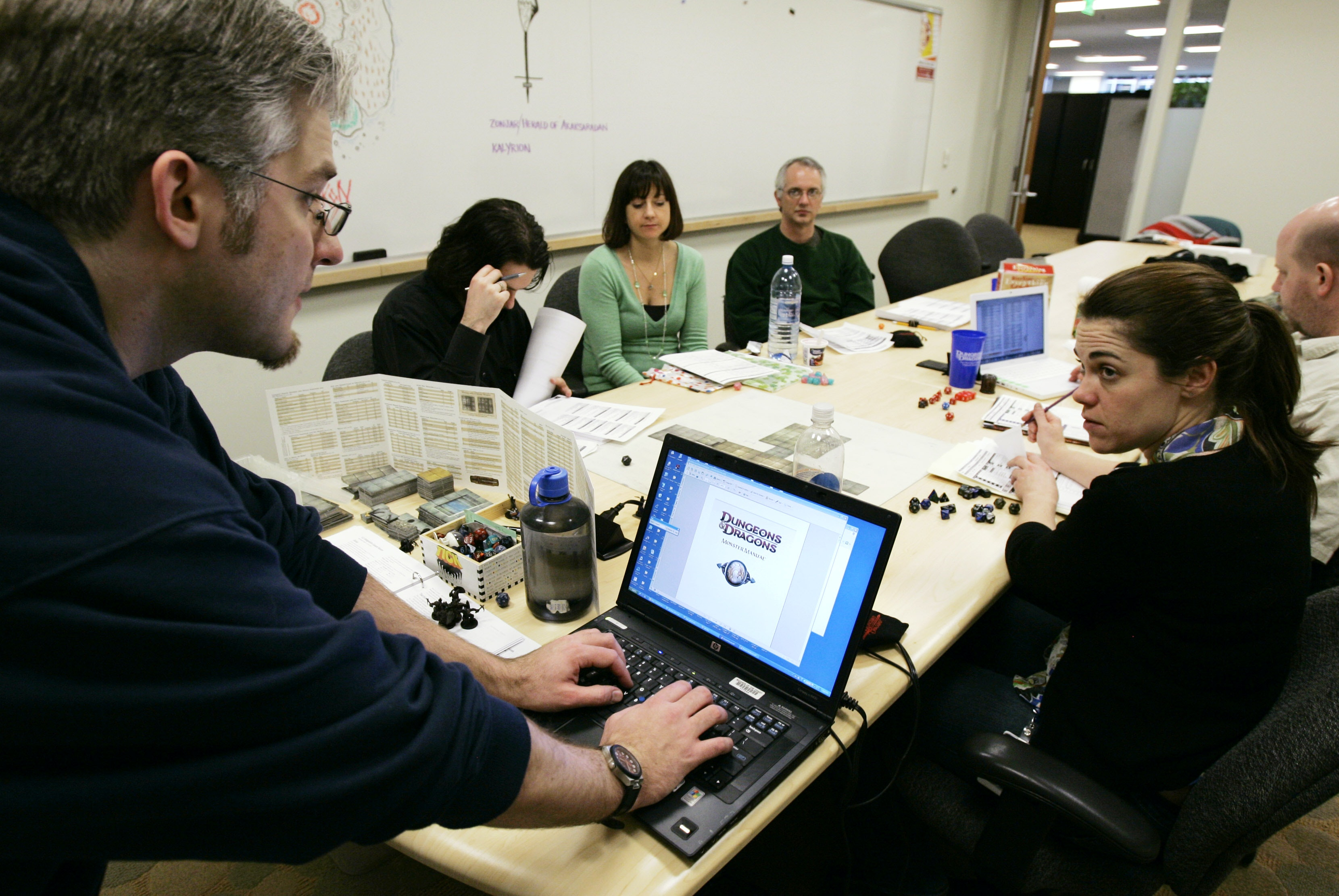 Many role-playing games get people together around a computer to explore a collective adventure.