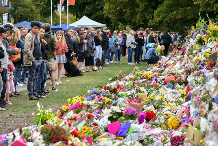 <figcaption class='imgFCap'>Mourning the victims of the Christchurch mosque attacks. EPA-EFE</figcaption>