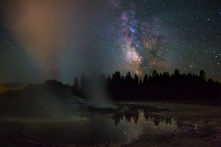The Milky Way as seen from Yellowstone National Park.-Neal Herbert/Flickr