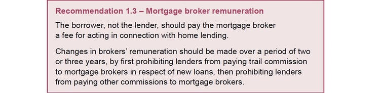 why Commissioner Hayne wants mortgage brokers to charge fees
