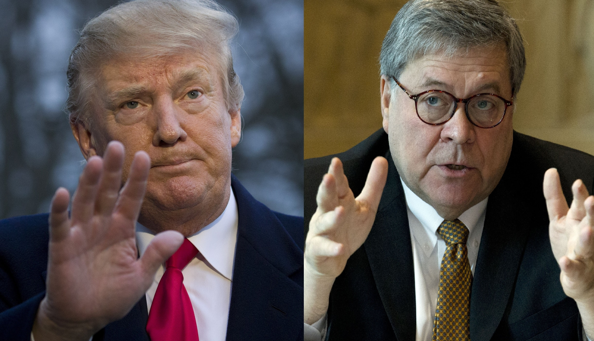 Image result for images of Trump and Barr