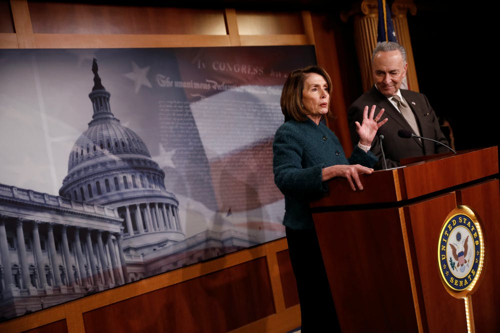 House Majority Leader Nancy Pelosi and Sen. Chuck Schumer are demanding that Robert Mueller's full report be handed over to Congress. Photo credit: Reuters/Aaron Bernstein