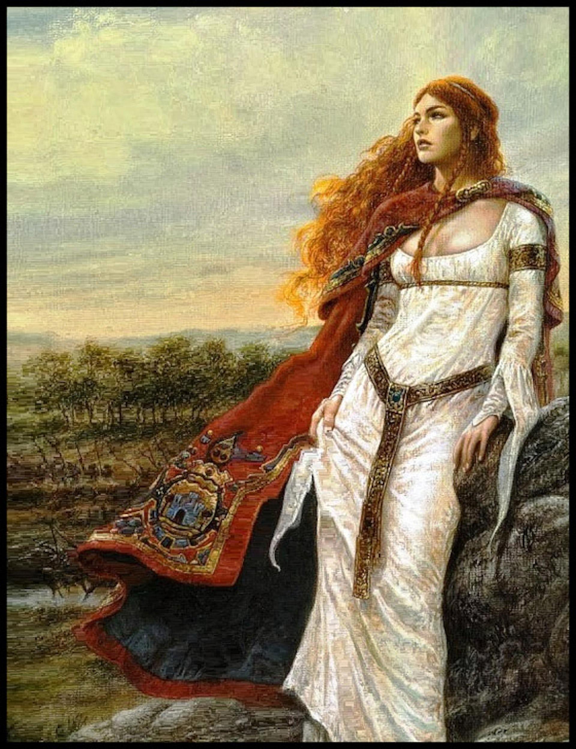 La Reina Boudicca, pintura del siglo XX (artista desconocido)