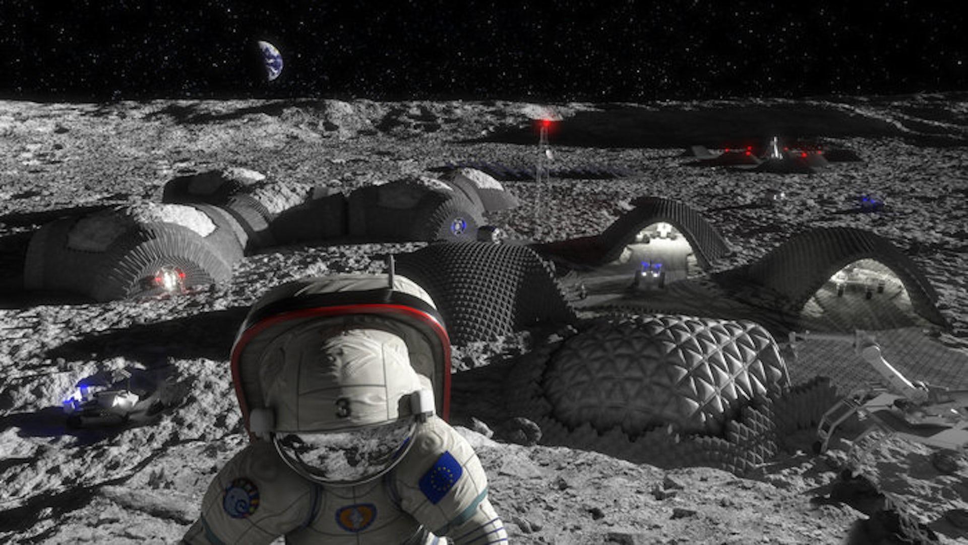 Construire une base lunaire avec une imprimante 3D et des os