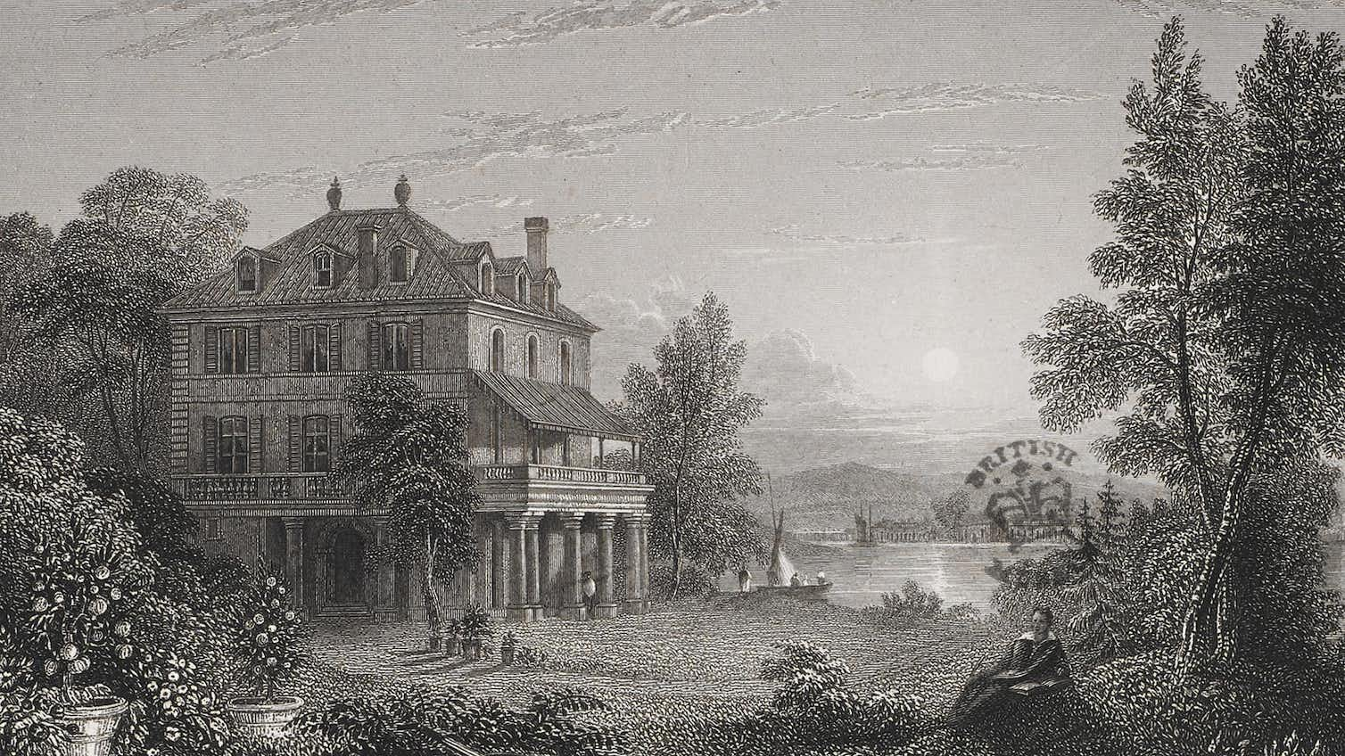 The site of the ghost story writing contest: Villa Diodati at Lake Geneva, 1833. Credit: Edward Finden/British Library