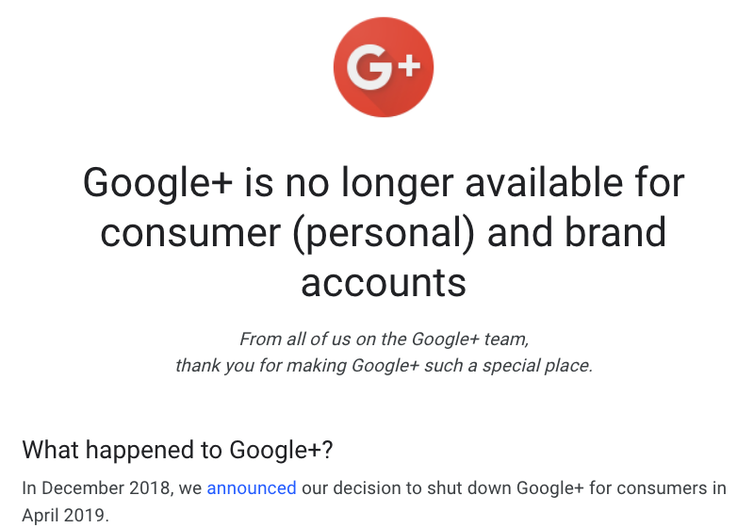 Goodbye Google+, but what happens when online communities close down?