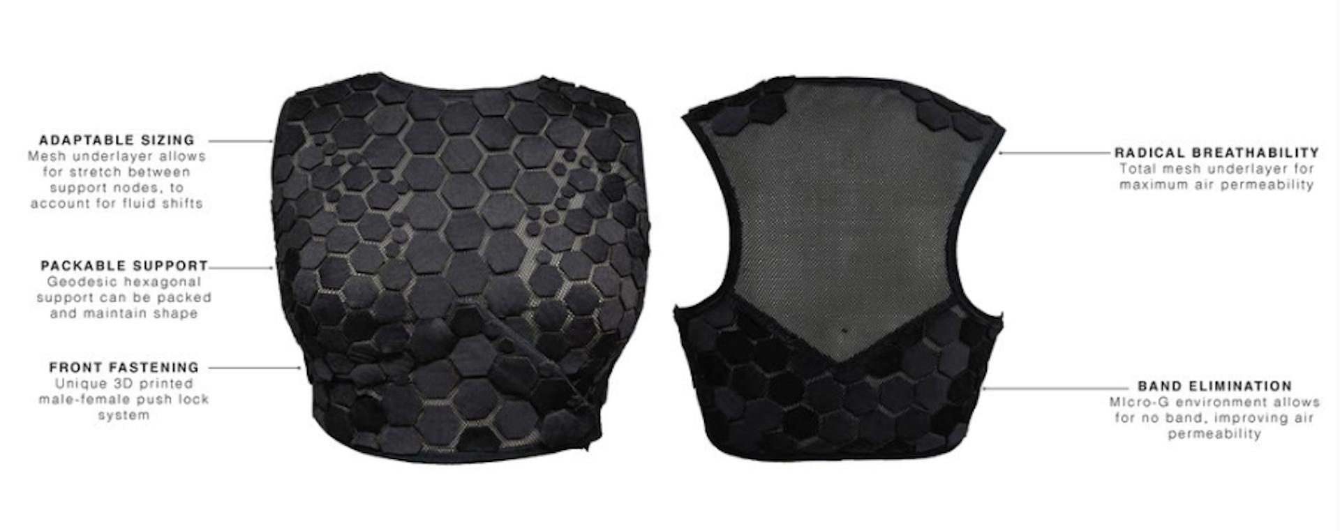 Olivia Echols' final design of the space bra. Photo credit: Olivia Echols