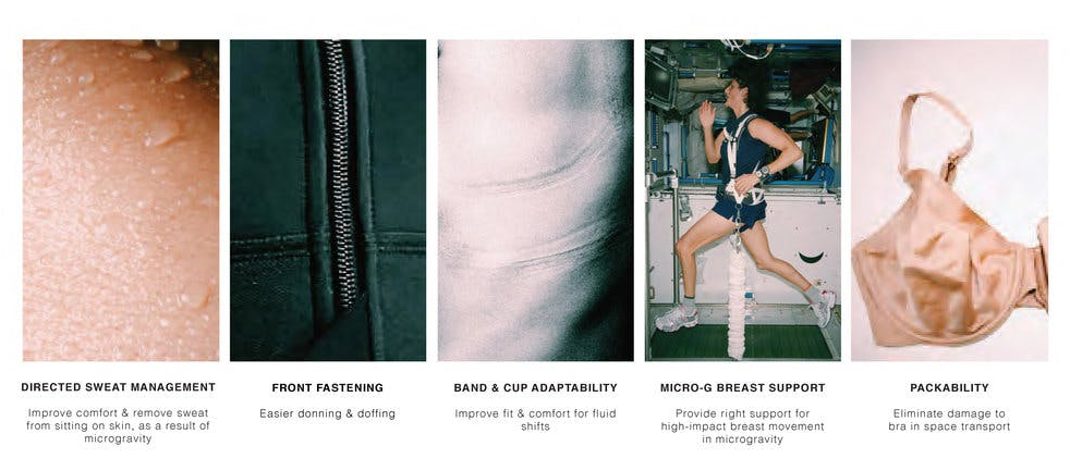 Olivia Echols identifies issues with the regular Earth bra that must be overcome to design the ideal space bra for female astronauts. Photo credit: Olivia Echols
