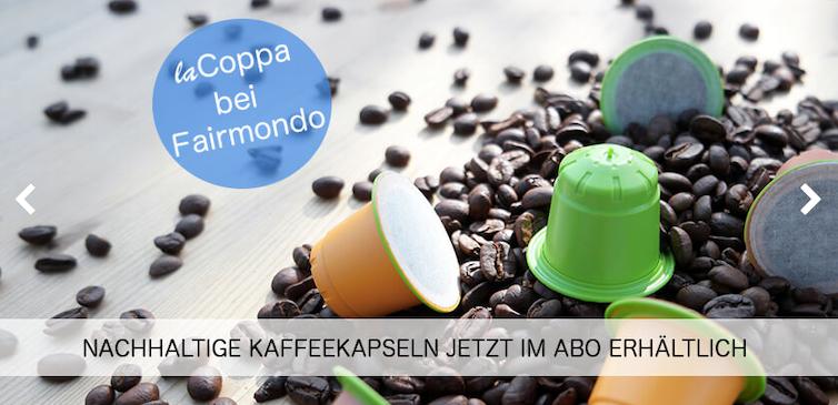 Fairmondo, marketplace allemande de produits équitables. Capture d'écran.
