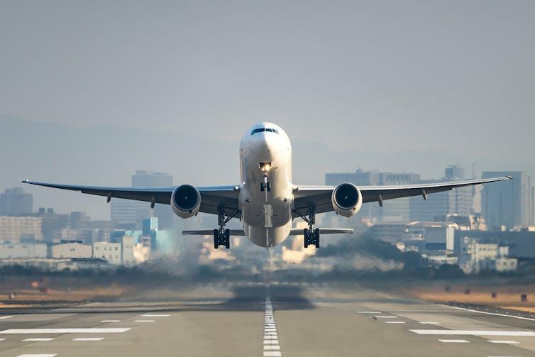 Flights can make up a big part of your carbon footprint. motive56 / shutterstock