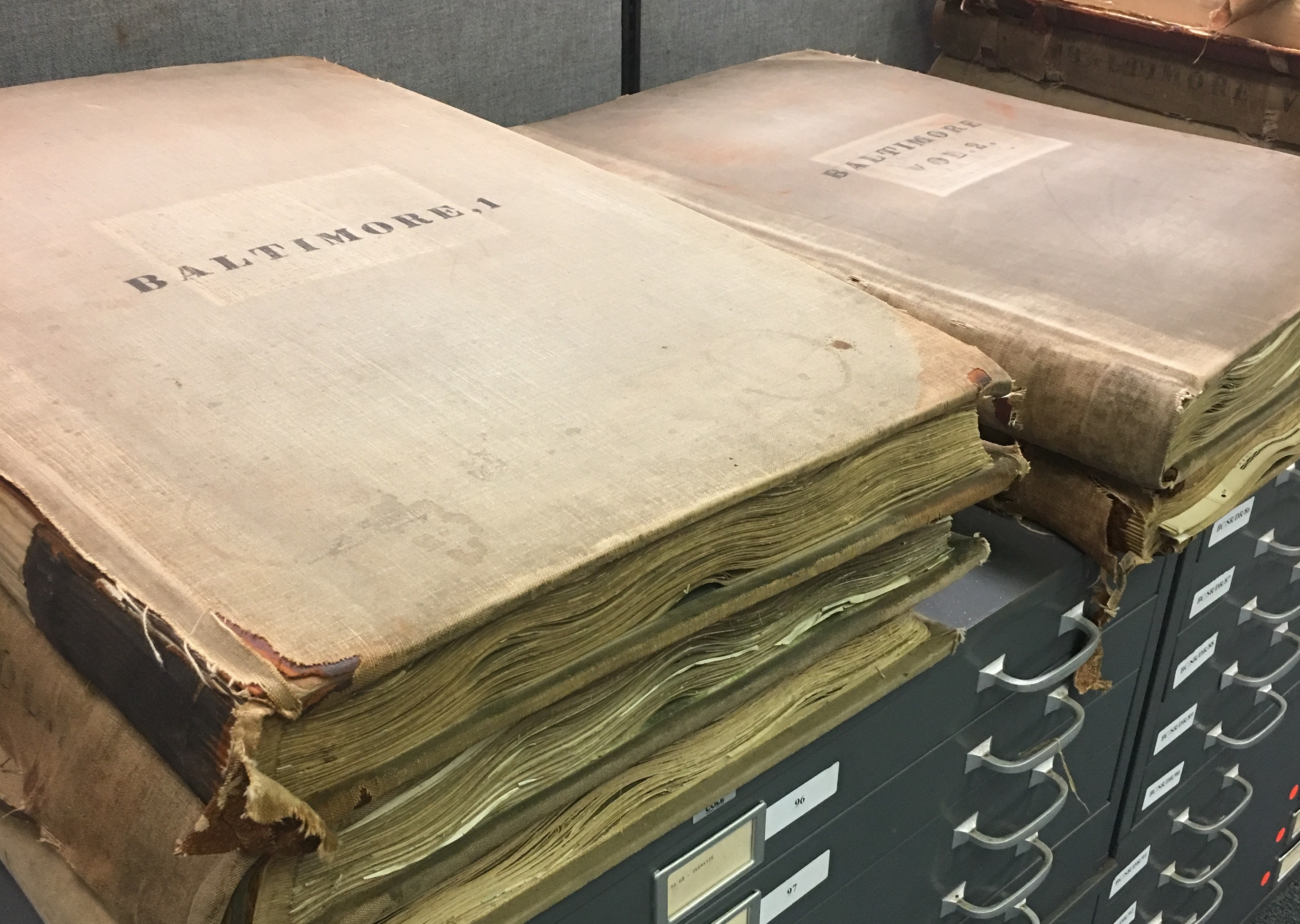 The Sanborn Map Company published detailed maps of U.S. cities and towns in the 19th and 20th centuries for fire insurance companies. Since they contain so much detailed information, they're invaluable resources that show how American cities have changed over many decades.Photo by the author, Baltimore City Archives, Author provided