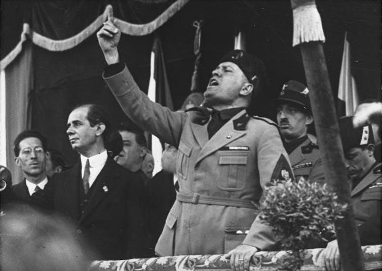 Benito Mussolini in Milan