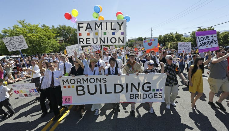 The Mormon Church still doesn't accept same-sex couples – even if it no longer bars their children