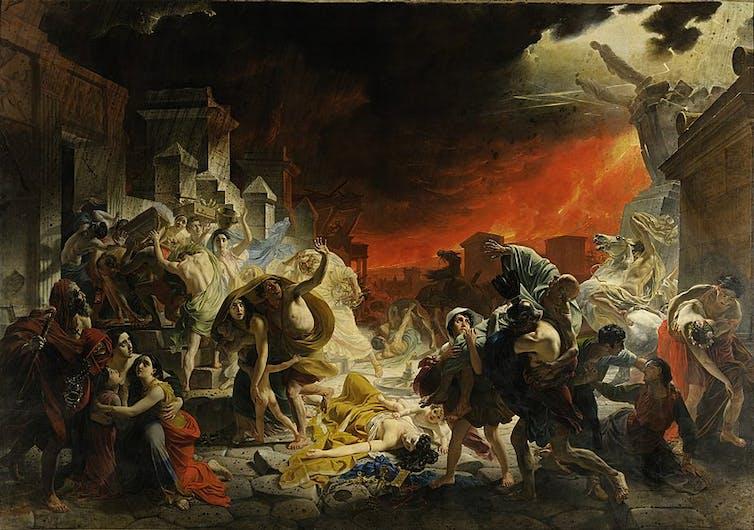 El último día de Pompeya, de Karl Briulov (1830-1833).Museo Estatal Ruso de San Petersburgo