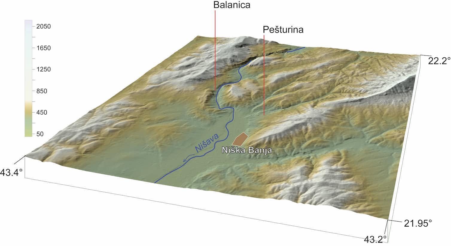 A map showing Pešturina's location. Credit: Miloš Radonjić, Author provided