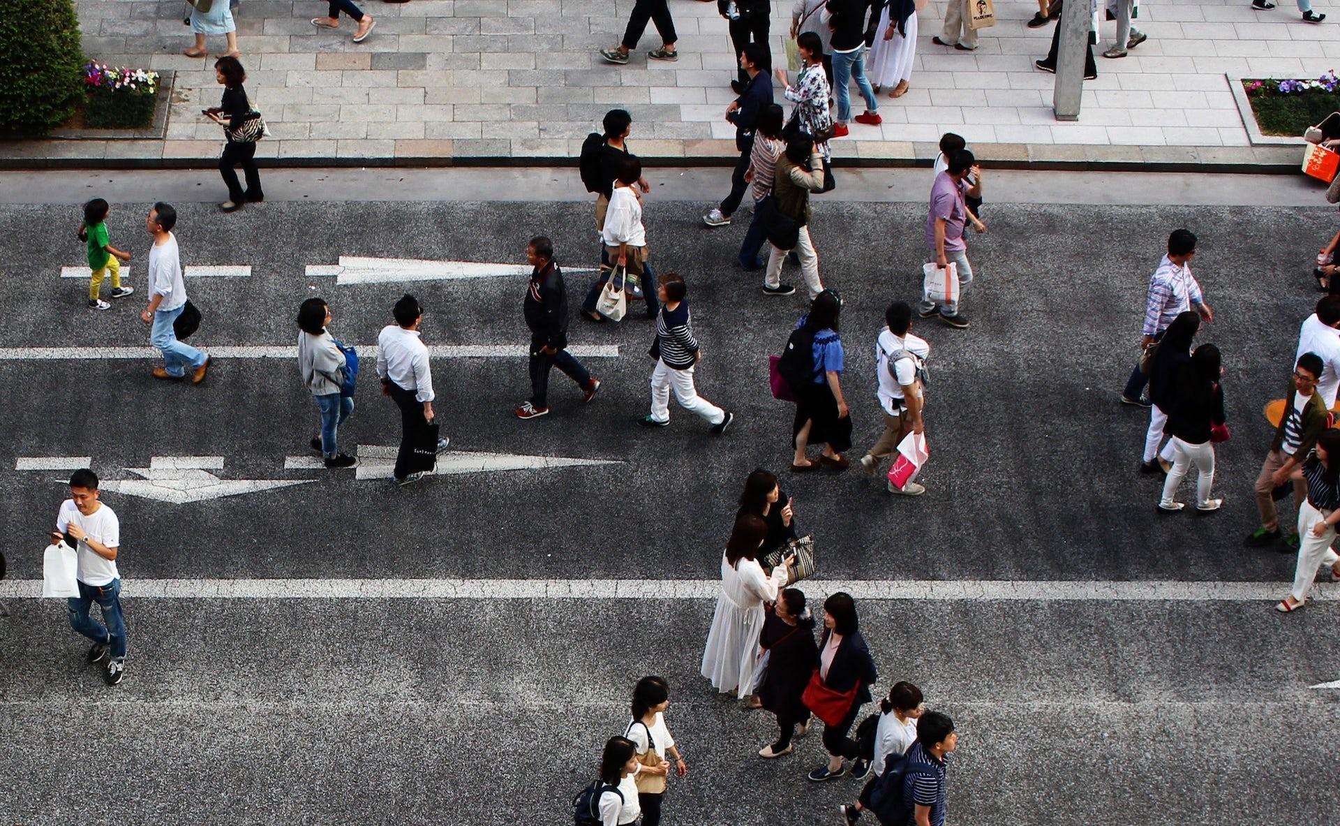 pedestrian paradise tokyo
