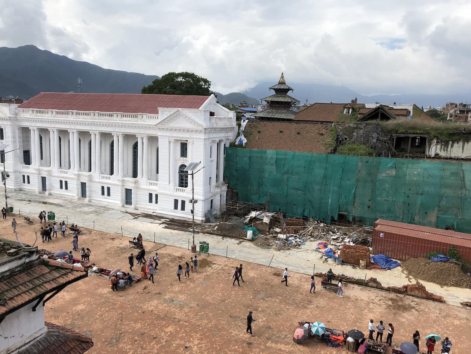 Gaddi Baithak under construction. Photo credit: Urmi Sengupta