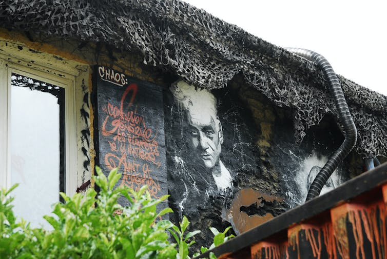 Mur Derrida.Thierry Ehrmann/Flickr, CC BY