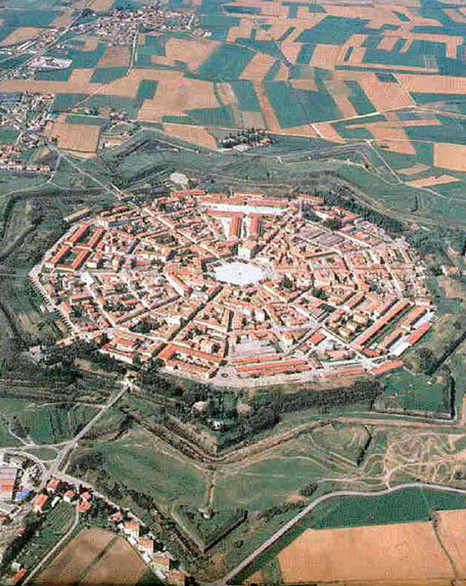 Palmanova, a Renaissance star fort town in north eastern Italy. Photo credit: Wikimedia Commons.