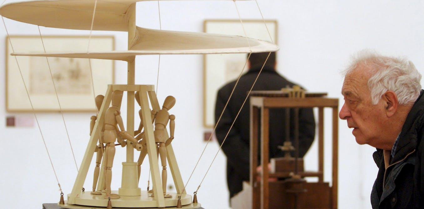 Leonardo da Vinci's helicopter: 15th-century flight of fancy led to modern aeronautics