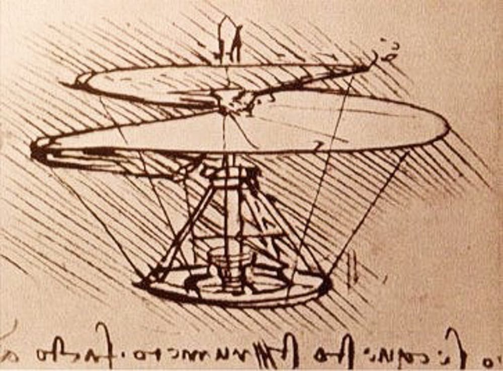 Leonardo Da Vinci S Helicopter 15th Century Flight Of Fancy Led To Modern Aeronautics