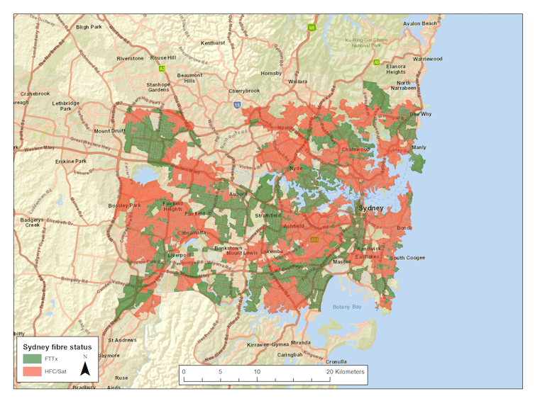 Around 50% of homes in Sydney, Melbourne and Brisbane have the oldest NBN technology