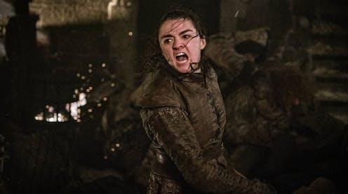Tidak ada yang lebih galak dibanding Maisie Williams sebagai Arya Stark di Game of Thrones.