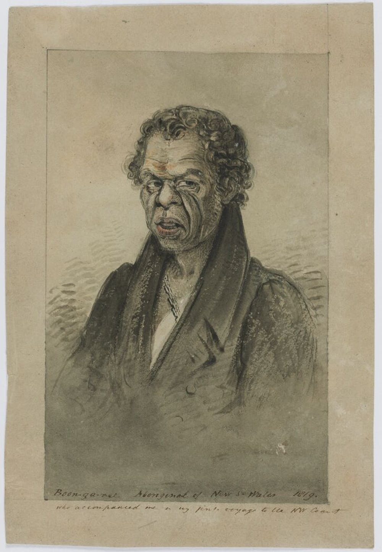 Туземец Бун-Га-Ри, зарисовка Филиппа Паркера Кинга