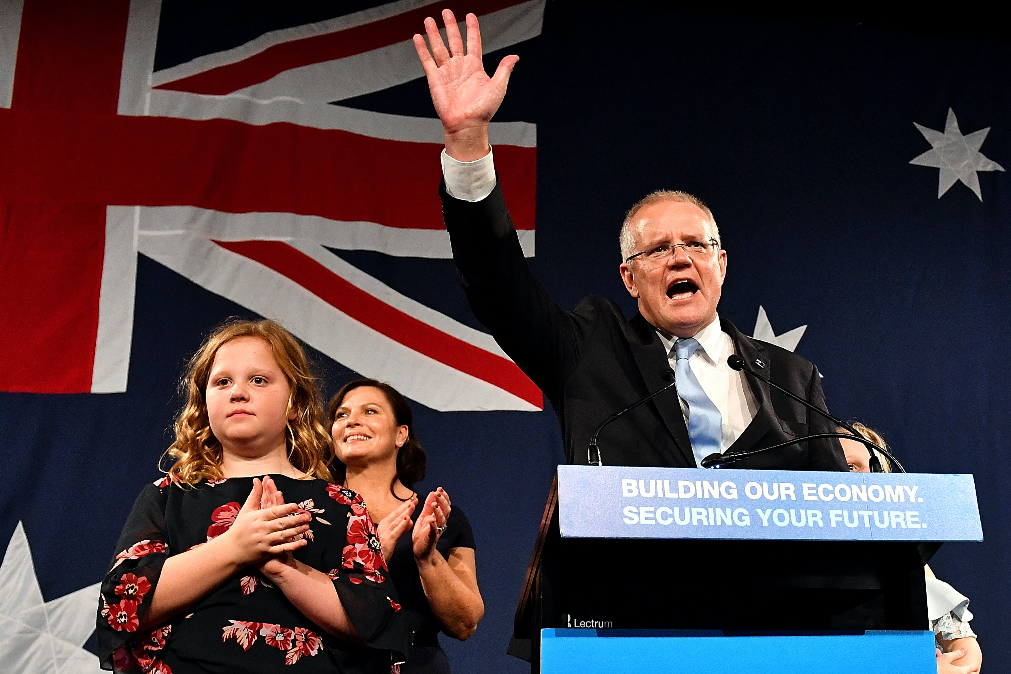Scott Morrison hails 'miracle' as Coalition snatches unexpected victory