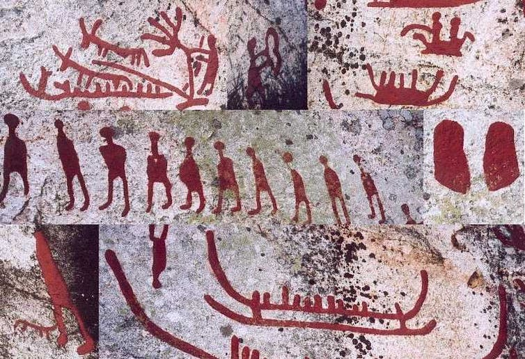 Rock carvings from Mesolithic-era Sweden