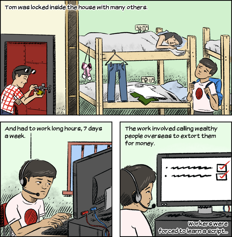 Human trafficking and slavery still happen in Australia. This comic explains how