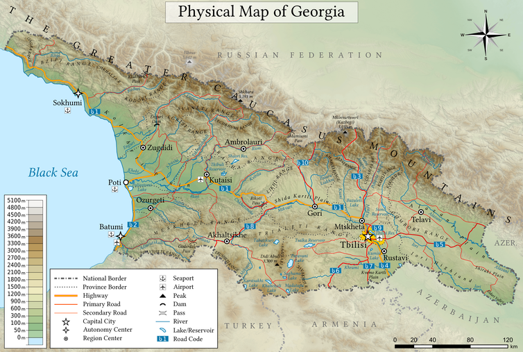 Georgia's habitats range from alpine peaks to river floodplains and the Black Sea coast
