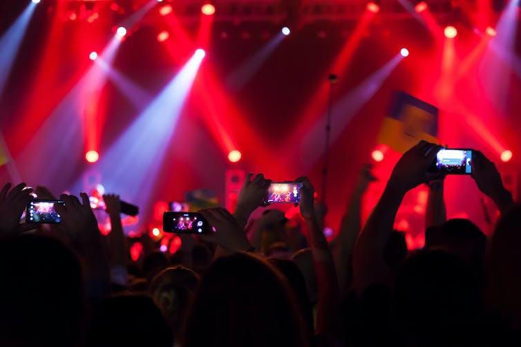 radiación en los conciertos