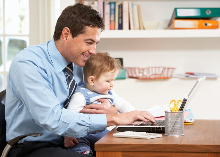 fathers on paternity leave could handle some work remotely