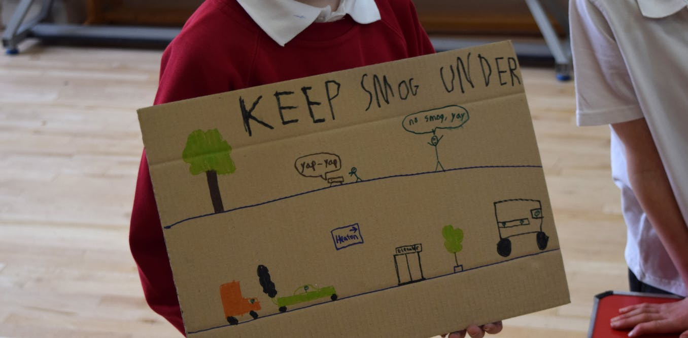 Schoolchildren helped redesign a city to cut air pollution and climate warming