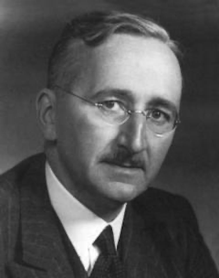 Economist Friedrich Hayek believed in the decentralisation of currency. Credit: The Mises Institute [CC BY]
