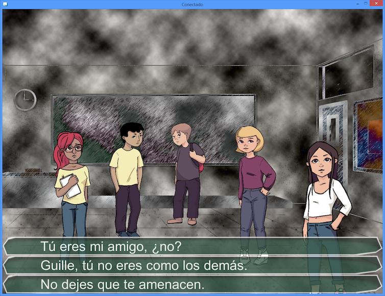Captura de pantalla del videojuego Conectado.
