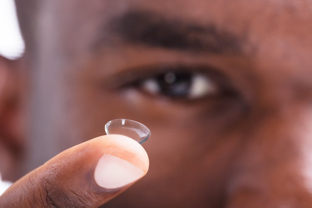 efae76b7df7 Wearing contact lenses alters the eye microbiome.  Andrey_Popov/Shutterstock.com
