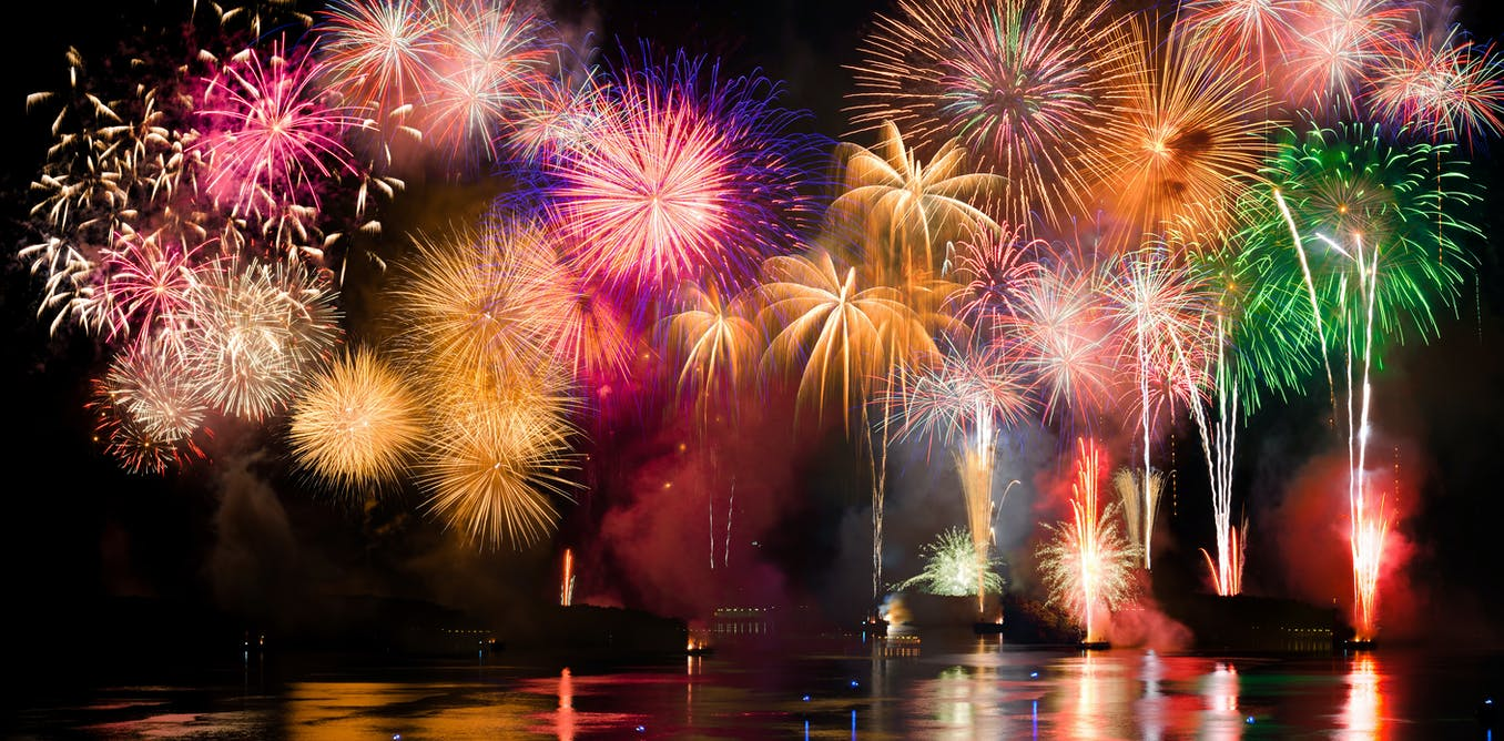 Red, white but rarely blue - the science of fireworks ...