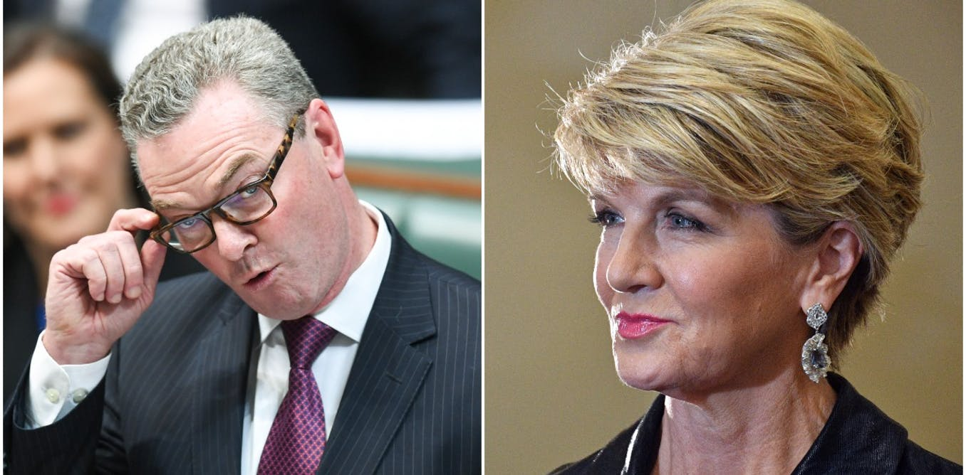 Why Christopher Pyne and Julie Bishop fail the 'pub test' with their new jobs