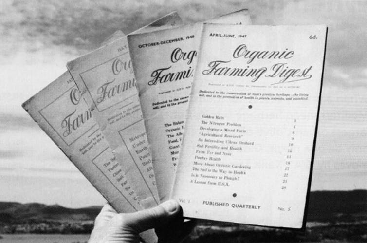 Editions of the Organic Farming Digest from the late 1940s.