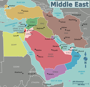old world map of the middle east images
