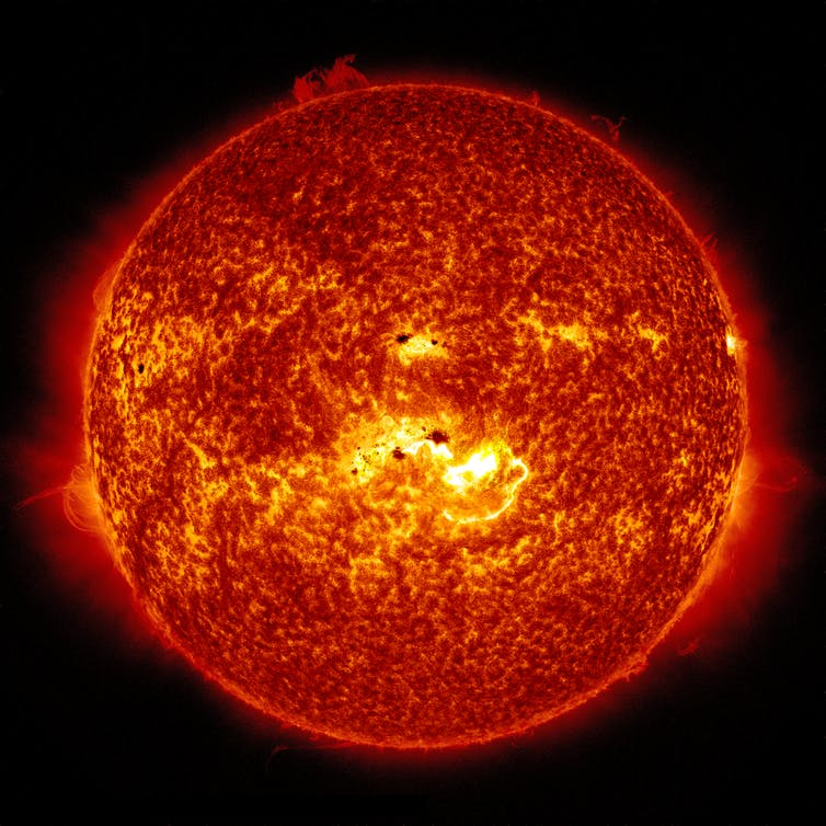 Curious Kids: why is the Sun orange when white stars are the hottest?