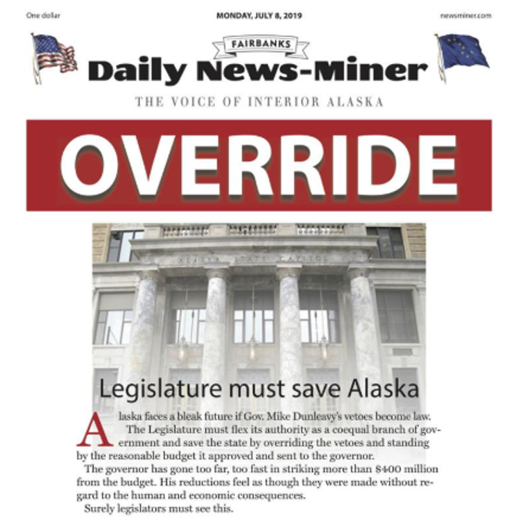 In Alaska, the choice is between paying for government or giving residents bigger oil wealth check